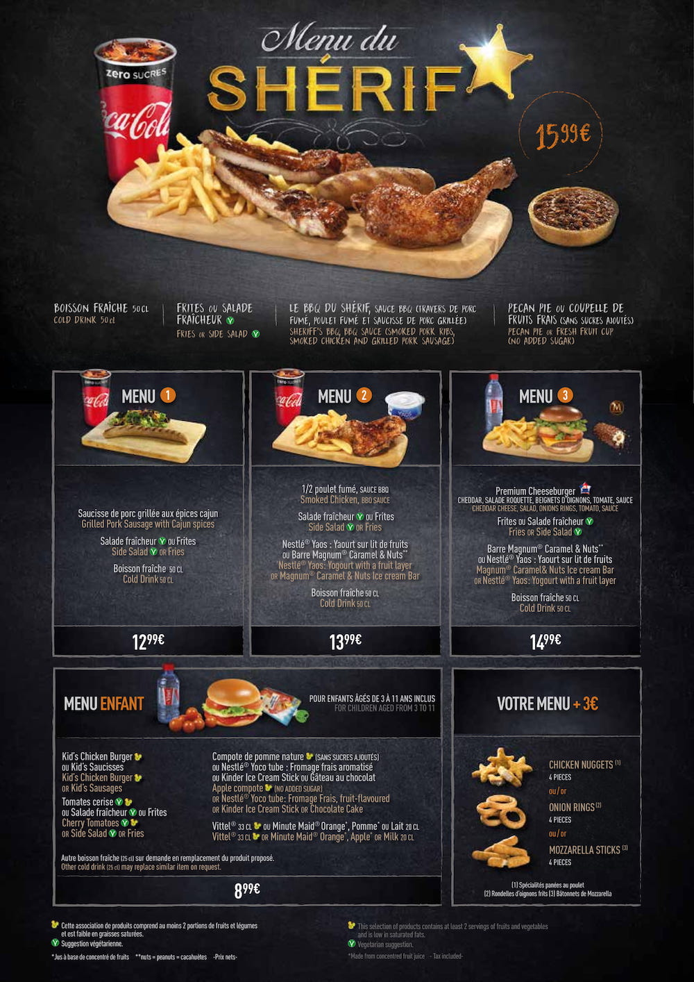 menu of the cowboy cookout barbecue at disneyland park |