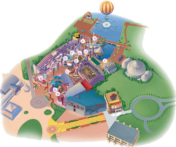 Disney Village Paris Map