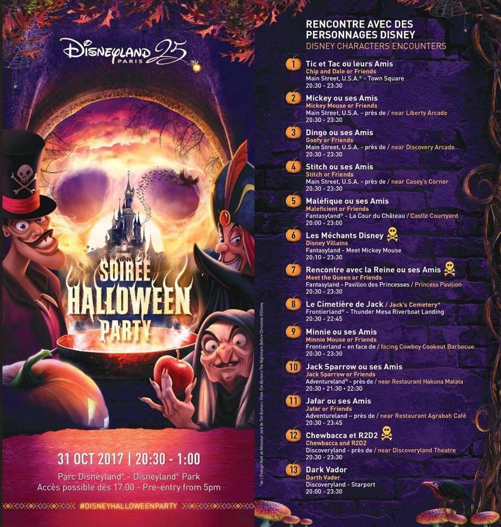 Disney Soiree Halloween.Le Programme De La Soiree Halloween 2017 Evenements Disney Wish2dream